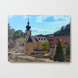 The village church of Helfenberg II | architectural photography Metal Print
