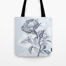 Graphic drawing roses Tote Bag