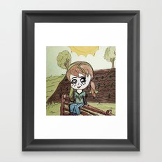 Garden Fence {Carrots & Tofu} Framed Art Print