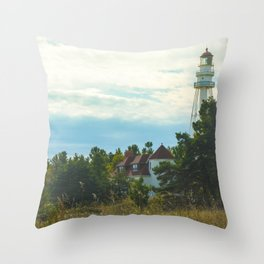 Discover (Rawley Point Lighthouse, Wisconsin) Throw Pillow