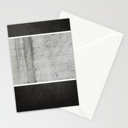 Raw Concrete and Black Leather Stationery Cards