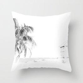 Lifeguard House Throw Pillow