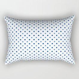 Geometrical trendy navy blue white polka dots pattern Rectangular Pillow