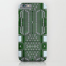 Computer Geek Circuit Board Pattern iPhone Case