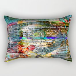 I've Watched Far Better Realities Suffer Far Worse (or The Temptations of Goku In The Wilderness) Rectangular Pillow