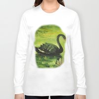 black swan Long Sleeve T-shirts featuring Black Swan by OLHADARCHUK