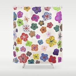 Floral art mille fiori Shower Curtain