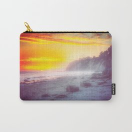 California summer beach sunset with beautiful cloudy sky Carry-All Pouch