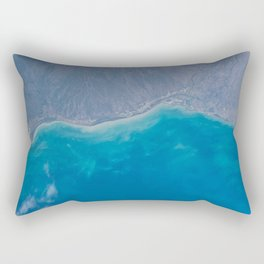 Pacific Ocean, California, Nature, Malibu, Los Angeles, Costline, Satellite, Landscape Rectangular Pillow