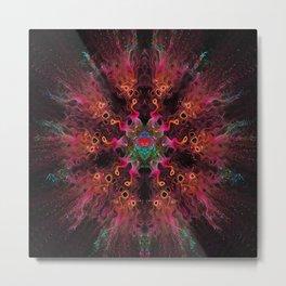 Fire Dance Mandala Metal Print