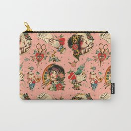 Makers Gonna Make Pattern Pink Carry-All Pouch