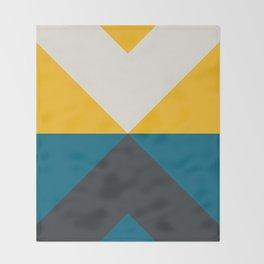 Split X Teal & Yellow Throw Blanket