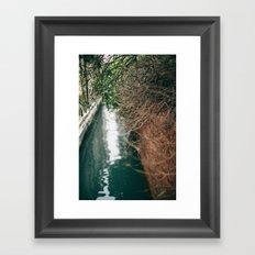 Branch Bokeh Framed Art Print