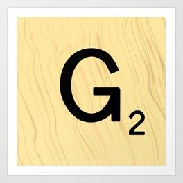 Scrabble G Decor, Scrabble Art, Large Scrabble Prints, Word Art, Accessories, Apparel, Home Decor Art Print