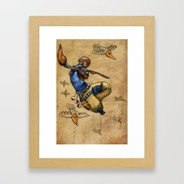 Malnourished Colored Framed Art Print