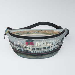 FERRY CROSSING THE RIVER MERSEY, LIVERPOOL Fanny Pack