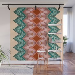 Diamond Leaves Pattern Wall Mural