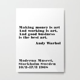 the best art - andy quote Metal Print