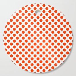 Orange and white polka dots pattern Cutting Board
