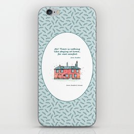 Jane Austen house and quote iPhone Skin