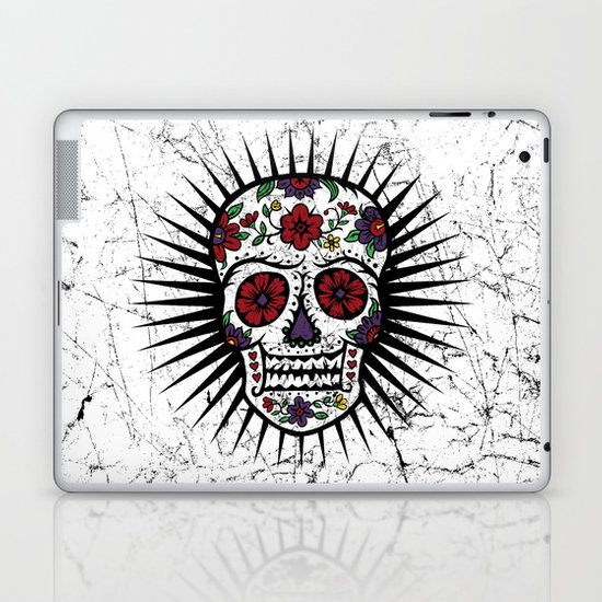 Sugar Skull Star Laptop & iPad Skin