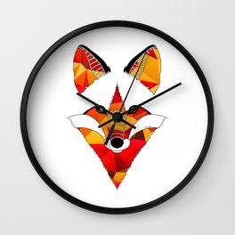 Fire Fox Wall Clock
