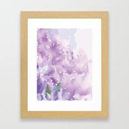 Purple Pattern Framed Art Print