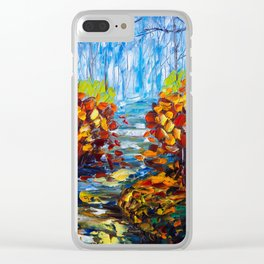 Misty Path Clear iPhone Case