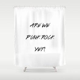 Punk Rock Shower Curtain
