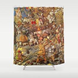 Richard Dadd The Fairy Feller's Master Stroke Shower Curtain