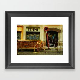 Barcelona Construction Framed Art Print