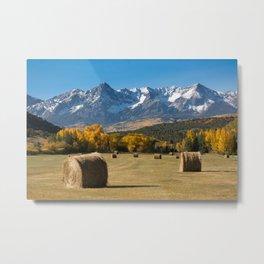 Autumn Harvest in the Rockies Metal Print