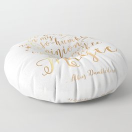 Dumbledore's Magic Words Floor Pillow