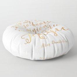 Dumbledore's Magic Words Floor Pillow