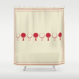 All In A Line Shower Curtain