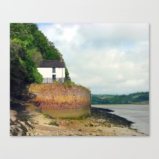 Dylan Thomas.The Boathouse. Canvas Print