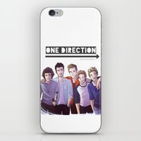 one direction iPhone & iPod Skins featuring One Direction by Gianbe