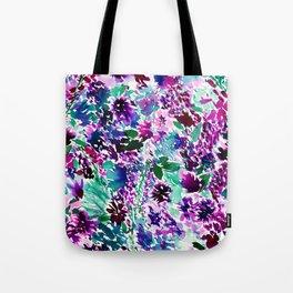 La Flor Plum Tote Bag