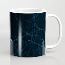 Dark blue leather texture abstract Coffee Mug