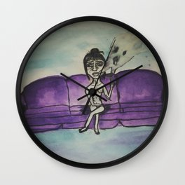 Bad Habits Are Ghost Haunting Me Wall Clock
