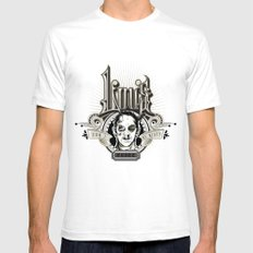 Lou's Tavern  SMALL White Mens Fitted Tee