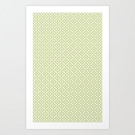 The arrows – green Art Print