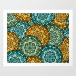 Royal disc pattern Art Print