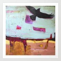 Denim Days 2 Crow Art Print
