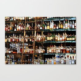 BOTTLES ALL IN A ROW Canvas Print