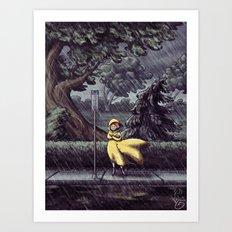 Wet & Windy Art Print