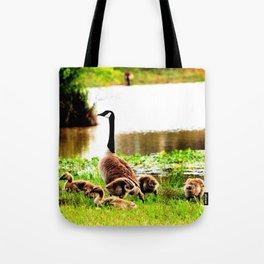 Canada Goose and Goslings Tote Bag