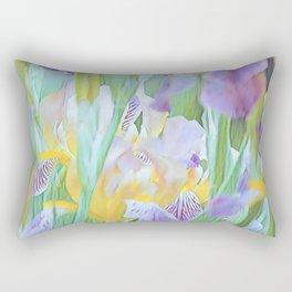 An Iris Abstract Rectangular Pillow
