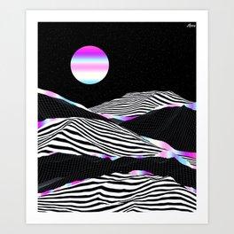 Stripes Mountains Art Print