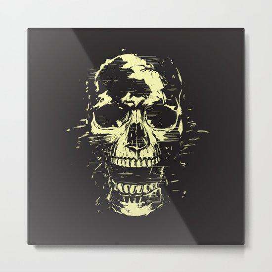 Scream (gold) Metal Print